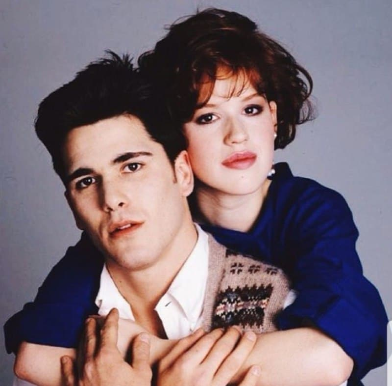 Michael Schoeffling with wife